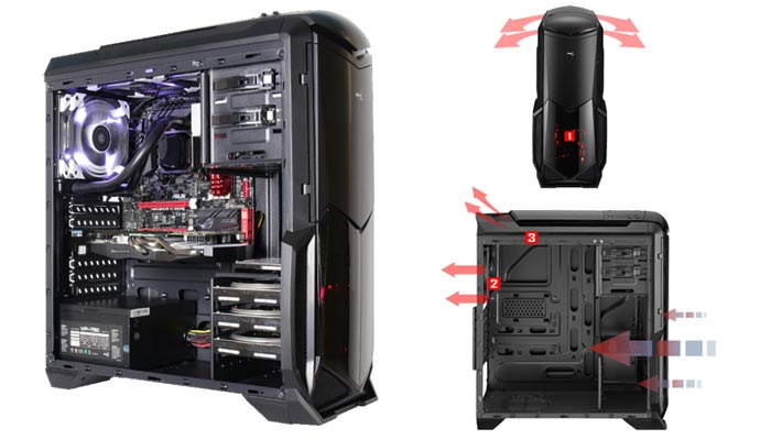 کیس حرفه ای Aerocool BattleHawk black